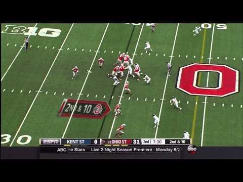 Ohio State RB Shovel Pass vs Kent State 1