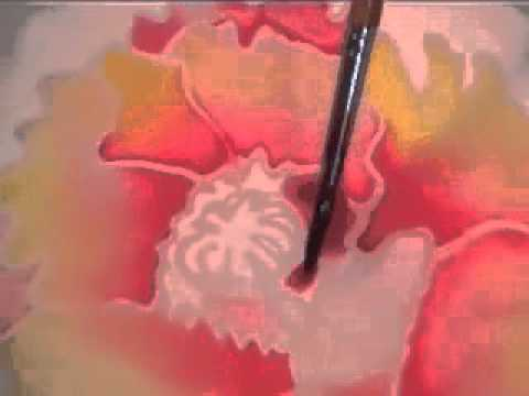 Painting On Silk With Acrylic Ink