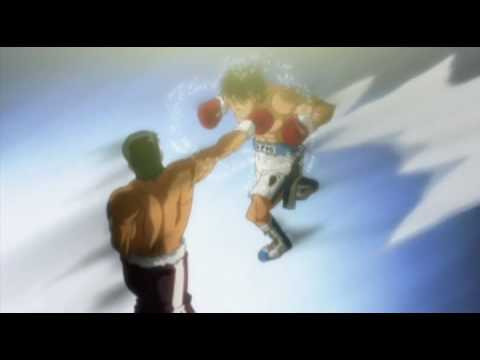Hajime No Ippo Date Eiji vs Ippo Heart Break Shot