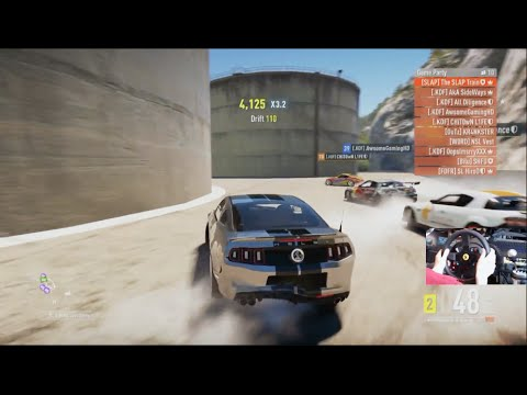 Forza Horizon 2 Tandems Drifting Trains Online (Shelby GT500)  w/Wheel Cam
