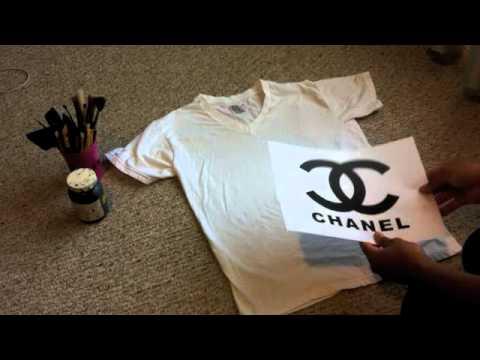 Diy How To Make A Chanel Logo Shirt Youtube