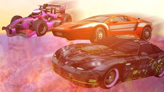 A Noob, Novice and Pro Stunt Run in Burnout Paradise Remastered
