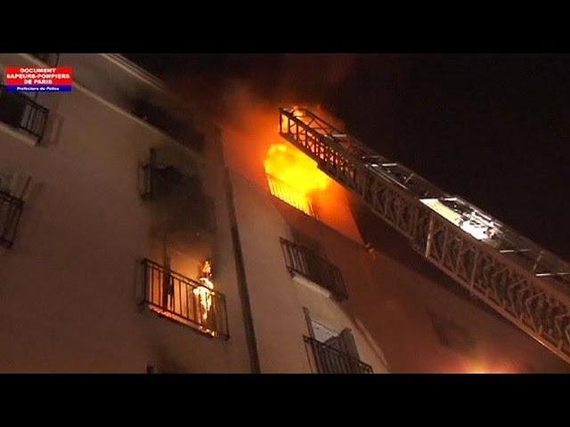 وقوع مرگبارترین حادثه آتش سوزی پاریس طی ده سال اخیر