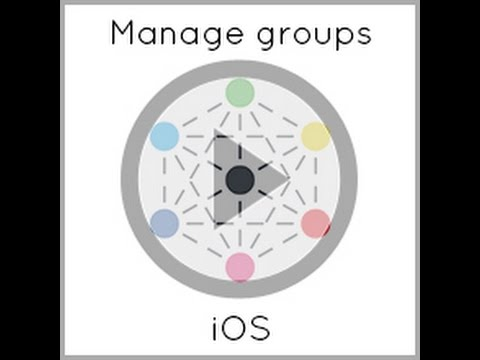 How to create and manage customised groups   iOS