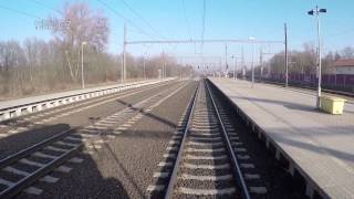 Praha Masarykovo nádraží - Úvaly/ POHLED NA TRAŤ Z ČELA SOUPRAVY