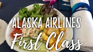 Flying First Class on Alaska Airlines from Honolulu, Hawaii to Portland