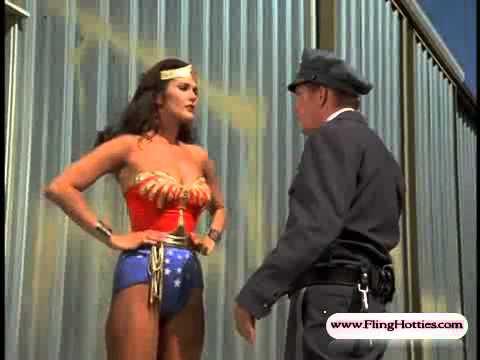 Wonder Woman (Lynda carter) sexy bust beating up bad guys - 720p