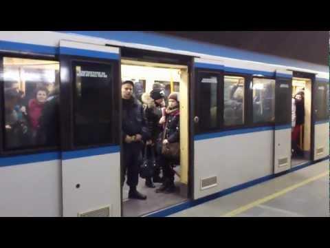 Новые поезда МЕТРО Киева