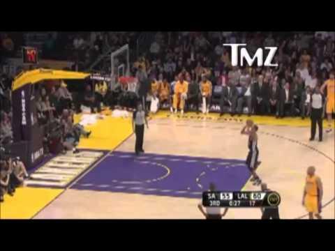 Kobe Bryant Saying Fucking Faggot To The Ref, video