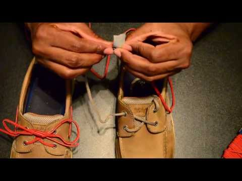 """Sperry"", Change or replace your shoe strings"