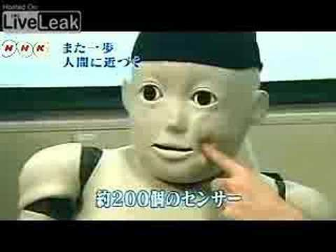 Most disturbing robot ever (Japanese child robot)