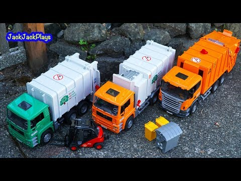 Kids Toy - Garbage Truck Videos for Children - Jack Jack's Toy Trucks in Action 1