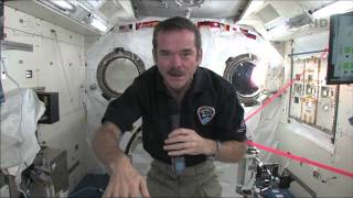 Chris Hadfield answers questions live from space with the Governor General of Canada