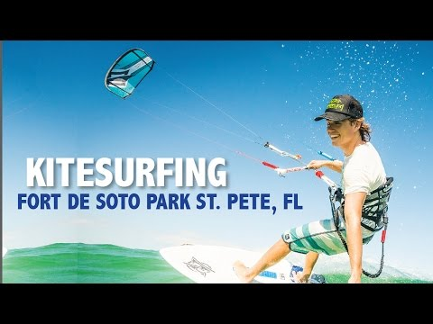 Windsurfing at Ft. Desoto on a November day in St. Pete Clearwater