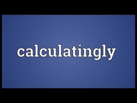 Header of calculatingly