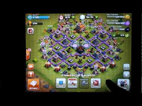 Clash Of Clans Town Hall Level 7 Best Base Defense | How To Save Money