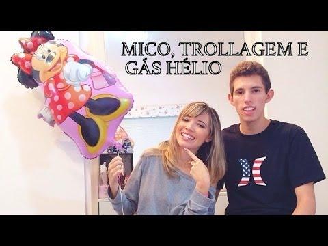 Mico, trollagem, Gás hélio- Resposta ao vídeo desafio do telefone com o Maninho ★