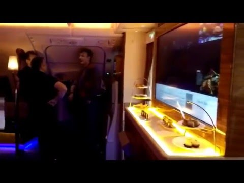 Emirates Airbus A380 Business Bar Lounge