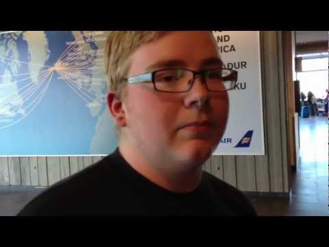 One of Mark Freeman 408's YouTube Fans meets & sees Mark off from Iceland - July 11, 2012