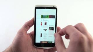 HTC One X stock browser demonstration