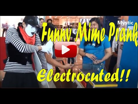 Mystic Mime French Mime  Funny Electrocuted Comedy in Manila Philippines