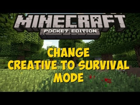 Minecraft PE - Change Creative to Survival Mode