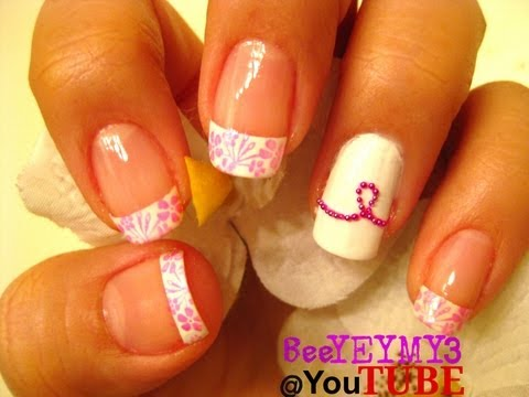 Nail Art-October in PiNK, Breast Cancer Awareness Month Inspired