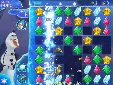 Frozen Free Fall Level 132 Live Action Play Walkthrough