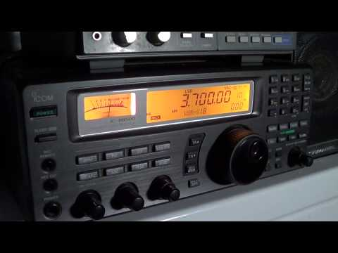 80 meters amateur radio band scan 0110 UT