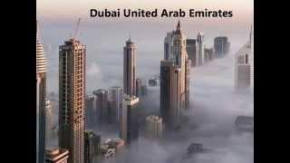 Dubai in clouds and fog.