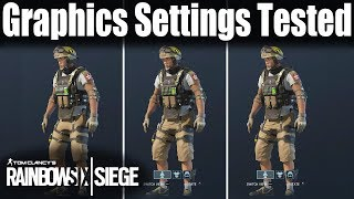 Graphics Settings tested and compared - Rainbow Six Siege