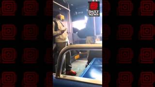 New York City MTA bus driver gets into fight with kid