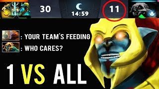 1v9 Feeder Team And They Think It's Over! Brutal Huskar 1 Kill 1 Min Comeback Crazy Boss WTF Dota 2