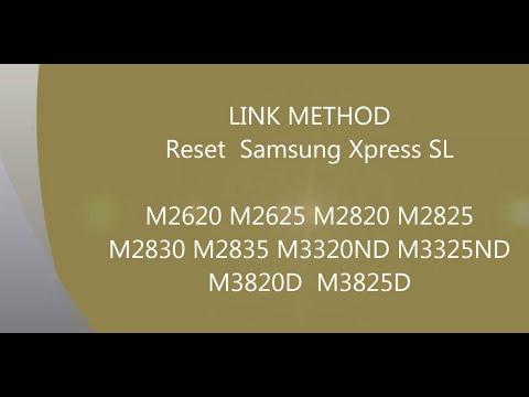 Fix firmware reset Samsung SL M 2620 2625 2820 2825 2830 2835 3320ND 3325ND 3820D 3825D LINK METHOD