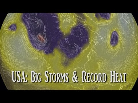 USA weather: Big Storms & Record Heat