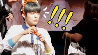 TXT 투바투 : 놀란 팬, 놀란 연준 (feat. 수빈 SOOBIN)  YEONJUN be surprised : Edited fancam : fansign 시네파크 190504