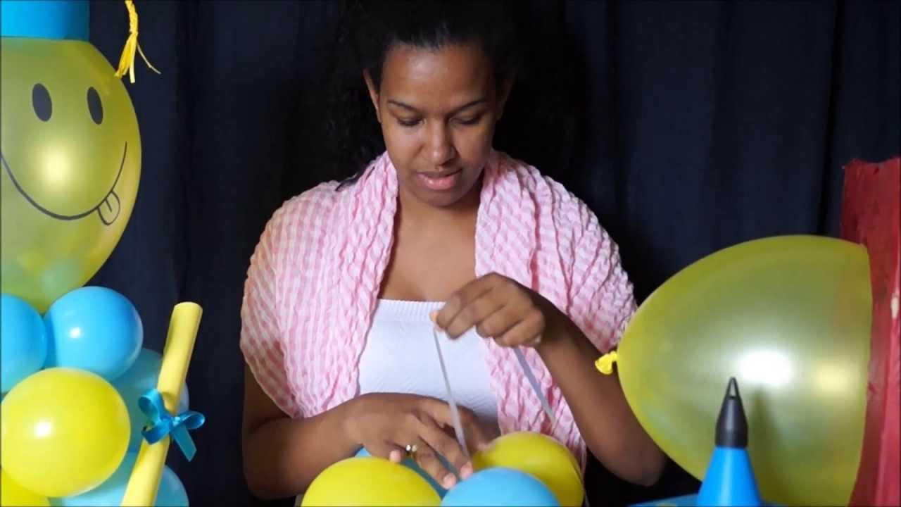 Centro de mesa para graduacion en globos youtube - Ver decoracion de salones ...