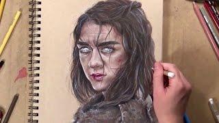 Drawing Arya Stark - Game Of Thrones