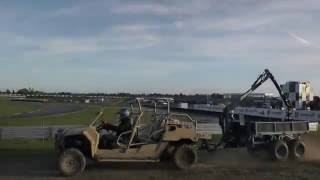 Vahva Jussi trailer with Polaris MRZR military UTV