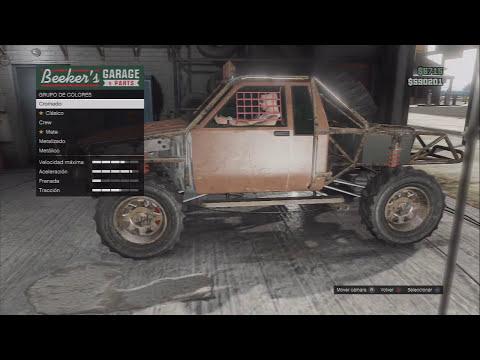 GTA V ONLINE: Localizacion de todoterreno 4x4 KARIN REBEL Camioneta tuning   Coches secretos & Raros