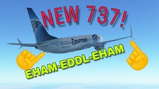 NEW 737! | IF STREAM | EHAM-EDDK-EHAM
