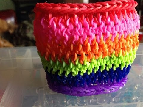 Rainbow Loom 'Mustache Tail Cuff' tutorial! Newest and most popular design!