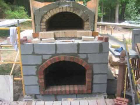 Wood Fired Brick Pizza Oven Construction - YouTube