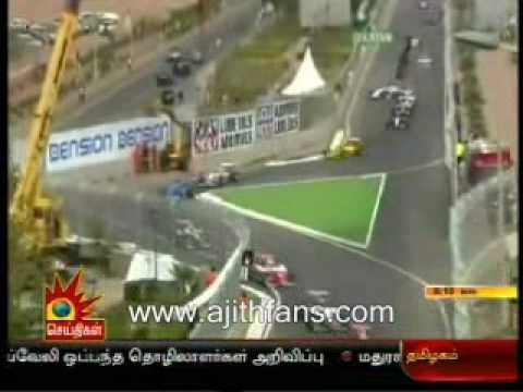 Ajith Escaped From Car Race Accident In Morroco - Kalaignar News video