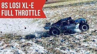 8S Losi XL-E At Full Throttle! - Desert Buggy