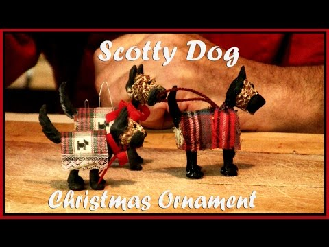 0 Handmade Christmas Ornament Scotty Dog Scottish Terrier