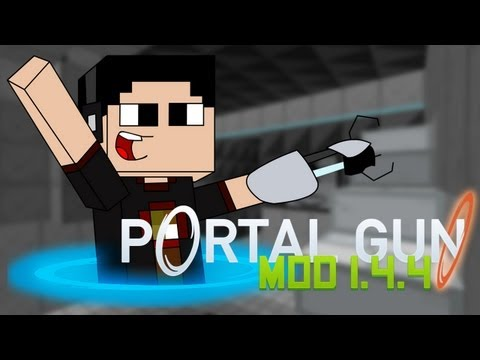 Minecraft para PC: Portal Gun Mod para 1.4.4. como Instalarlo y Review!! (Forge)