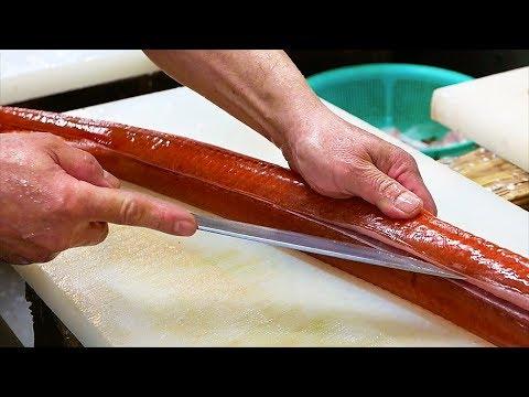 Japanese Street Food - RED CORNET FISH Sashimi Japan Okinawa Seafood