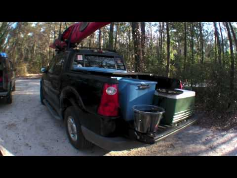 Camping and hiking at O'leno State Park Florida