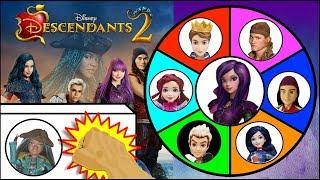 Disney DESCENDANTS 2 Dolls & Toys Spinning Wheel Game | Surprise Toys Kids Games